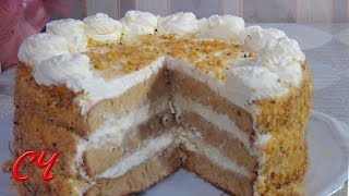 """Смотреть онлайн Простой рецепт торта """"Волшебный"""""""