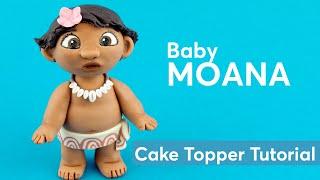 Baby MOANA   Fondant Cake Topper Tutorial