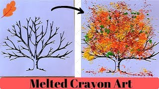 Simple Melted Crayon Paintings | Fall Season Crafts || Using Iron.