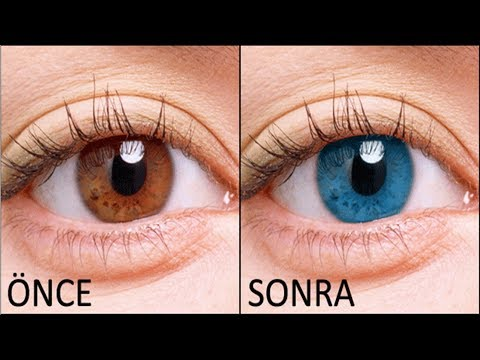 3 Dakikada Göz Renginizi Mavi Yapın !