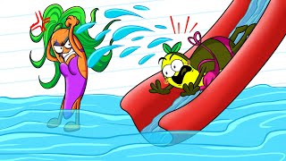 FUNNY WATER SLIDE FAILS