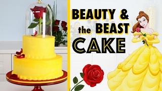 EASIEST Beauty & The Beast Cake 🌹How To Make A Princess Wedding Cake! ♥️