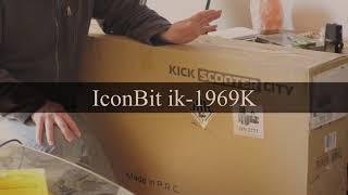 eRoller/eScooter IconBit ik 1969k City Unboxing Zusammenbau und Tipps