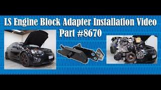 LS Engine Block Adapter Installation with EWP150