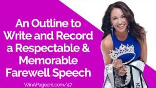 Write And Record A Respectable Farewell Speech (Episode 47)