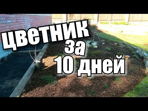 Как создать цветник (миксбордер) за 10 дней своими руками с нуля!!??!/ #деревня/#mixborders
