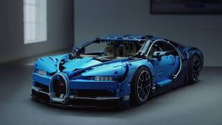 LEGO Technic 42083 Bugatti Chiron Sports Car Model - LEGO Technic Features and Functions Video