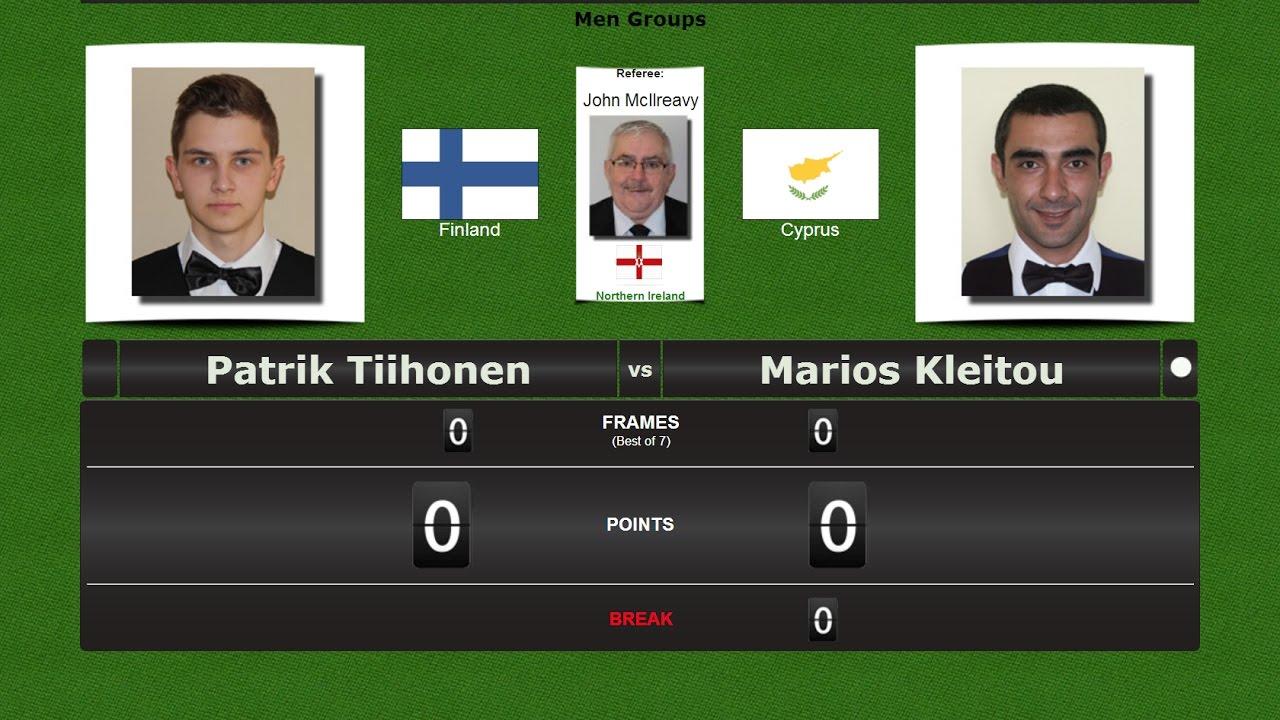 European Snooker Championships → Nicosia 2017 Patrik Tiihonen vs Marios Kleitou