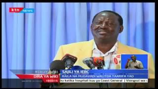 KTNLeo: Raila Odinga na Musalia Mudavadi wamepinga kuanza kwa shughuli ya kukagua sajili ya wapiga k