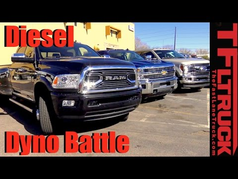 2017 Chevy Duramax Vs. Ford Power Stroke Vs. Ram Cummins: HD Diesel Dyno Battle