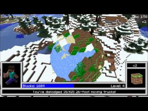 When Katamari Damacy And Minecraft Collide