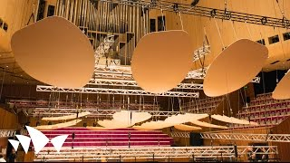 Testing New Acoustic Reflectors In The Concert Hall | Sydney Opera House