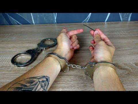 Experiment - Kann man Handschellen mit nur einer Haarspange öffnen?