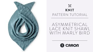 Asymmetrical Lace Knit Shawl   Knitting Tutorial   With Marly Bird