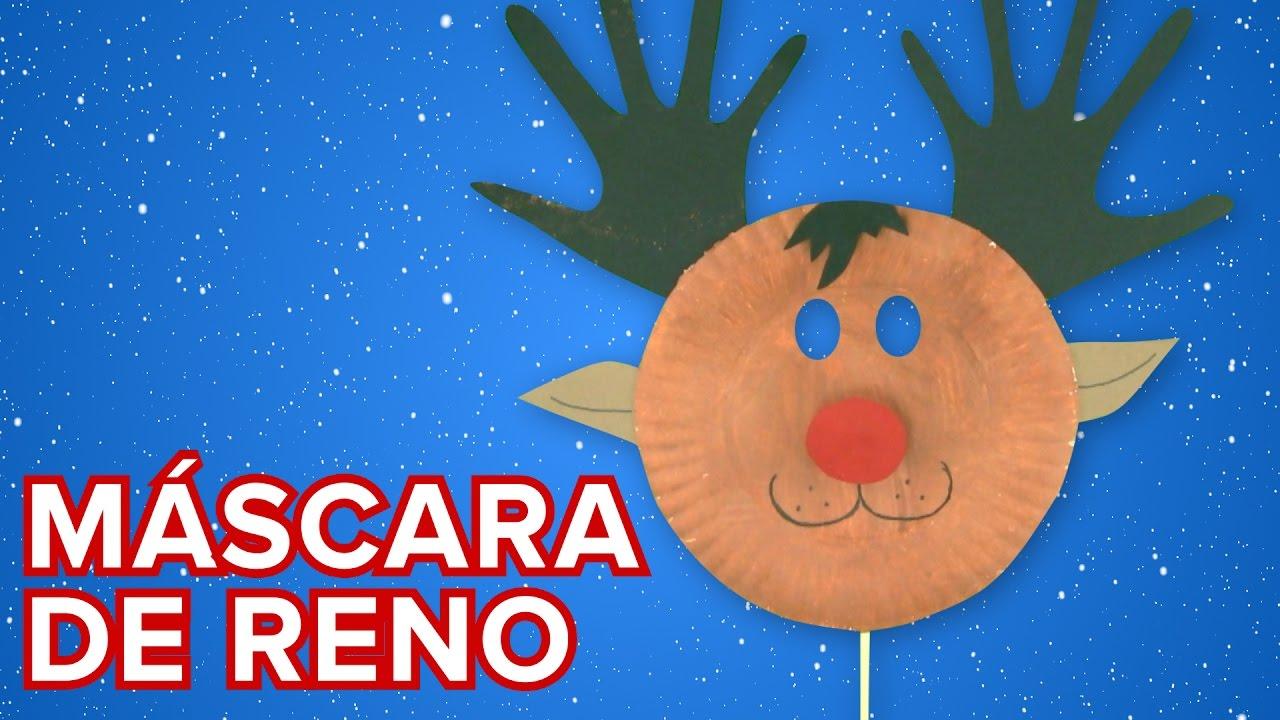 Máscara de reno de Papá Noel | Manualidades de Navidad