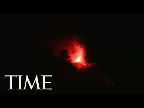 Increased Eruption Of The Volcano Of Fire In Guatemala | TIME