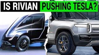 Is Rivian Pushing Tesla To Unveil Its Electric Pickup Truck Sooner?   Kholo.pk