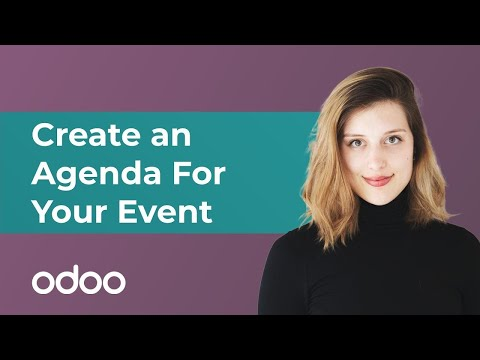 Create an Agenda for Your Event | odoo Marketing
