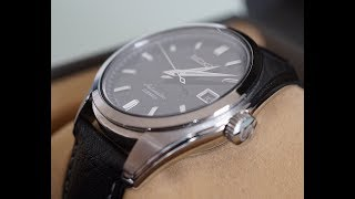 The Best Formal 20 MM  Leather Watch Strap | HIRSCH FOREST BLACK | SEIKO SARB033 | Unboxing |
