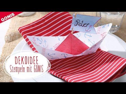GONIS Dekoidee Papierboot