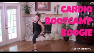 Burn fat, Burn calories, Aerobic, Full Length Workout Video: 25-Minute Cardio Bootcamp Boogie by jessicasmithtv