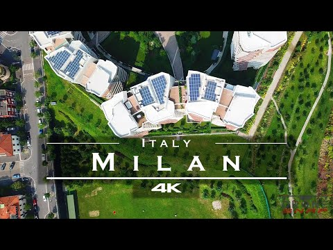 סרטון רחפן מדהים שמציג את העיר מילאנו באיכות 4K