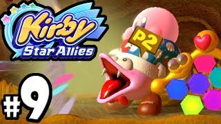 Kirby Star Allies - 2 Player Co-Op! - Switch Gameplay Walkthrough PART 9: Marx Laser & Yggy Woods