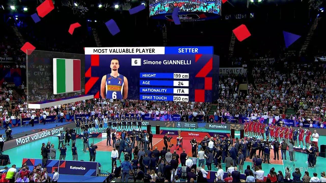 CEV: Η απονομή του MVP Σιμόνε Τζιαννέλλι | 19/09/2021 | ΕΡΤ