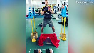 Reaction training (Petr Cech)