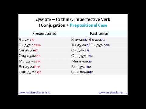 Russian Classes Online: The Verb Думать
