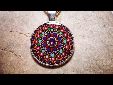 Painted bezel pendants