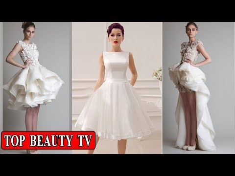 Short white wedding dresses , short bridal dresses for women