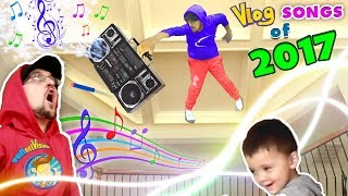 WHY'S HE ON MY CEILING!?! FUNnel Vision TWINS! Vlog Songs of 2017 Music Video Video Compilation!