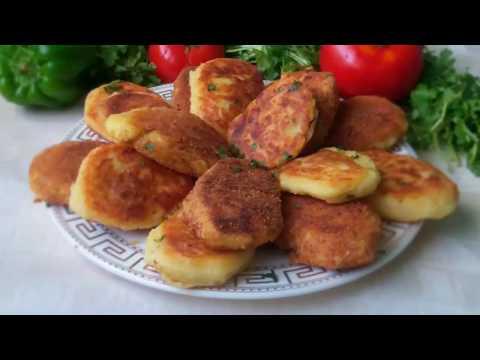 Potato Cutlets with ground meat Картофельные зразы  рецепт  English subtitles