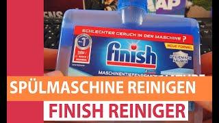 Spülmaschine reinigen: Geschirrspüler mit Finish Maschinentiefenreiniger sauber machen