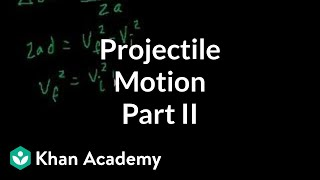 Projectile motion (part 2)