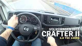 New Volkswagen Crafter 2.0 TDI 140  2018 4K | POV Test Drive #037 Joe Black