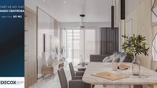 Mẫu thiết kế nội thất căn hộ Hado Centrosa 80m2 - Quận 10
