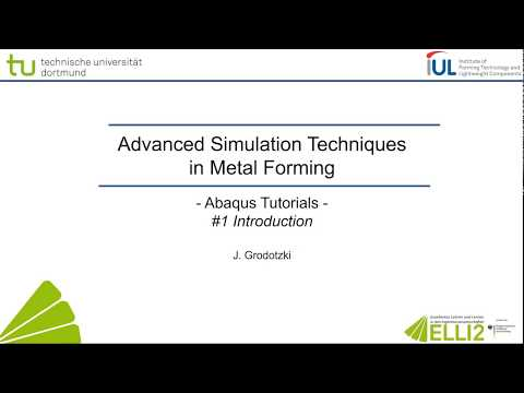Abaqus Tutorial: Introduction to CAE #1 Overview - YouTube