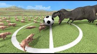 ブタ100匹と恐竜でサッカーさせてみたBeast Battle Simulator実況プレイ