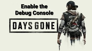 Enable Debug Cheat Console Days Gone