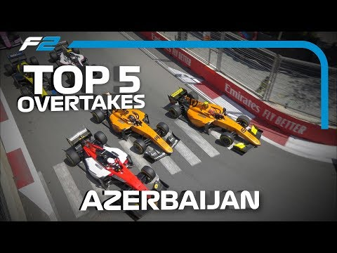 Top 5 Formula 2 Overtakes | 2019 Azerbaijan Grand Prix