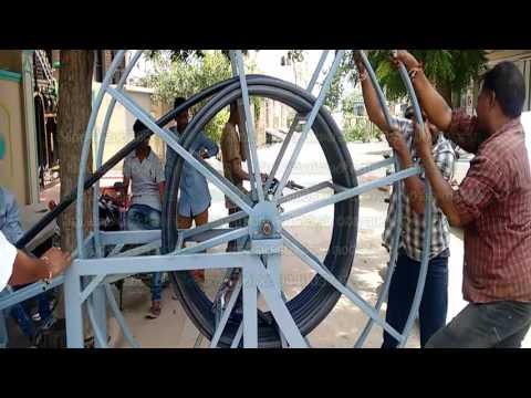 Borewell motor pulling machine