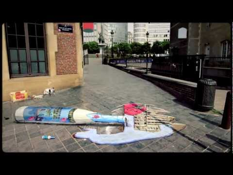 Delirium Tremens 3D perspective street drawing