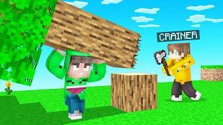 FALLING TREE TROLL In Minecraft! (Realistic Physics)