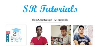 Team Card Hover Effect | Demo 12 | Html, Css & Bootstrap | SR Tutorials |