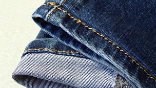 How To Shorten Jeans With Original Hem