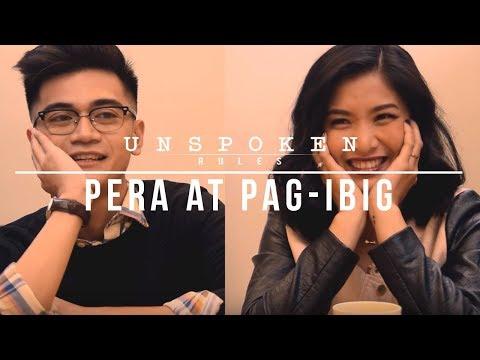 """Unspoken Rules: """"Pera At Pag-Ibig"""""""