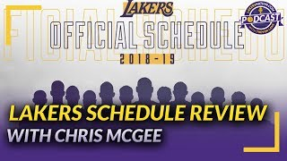 Lakers Nation Podcast: Full Lakers Schedule Review with Spectrum Sportsnet's Chris McGee