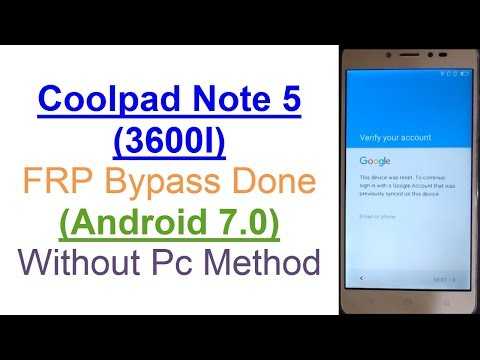 coolpad 3600i||note 5 frp unlock without pc just a minute - смотреть